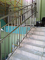 Лестница из нержавеющей стали №4