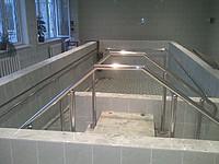 Лестница из нержавеющей стали №8