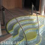 декоративные поручни для ступеней в бассейне
