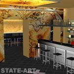 проект вид на бар 2-го этажа
