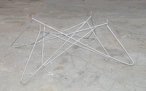 Подстолье Лофт из металлического прутка