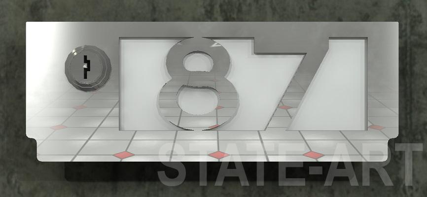 вариант U-010 фасад почтового ящика