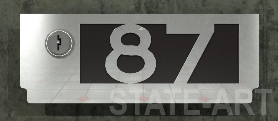 вариант U-008 фасад почтового ящика