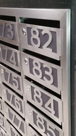 Производство блочных почтовых ящиков из нержавейки.