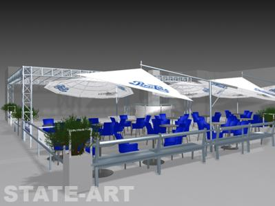 Дизайн проект кафе летняя площадка