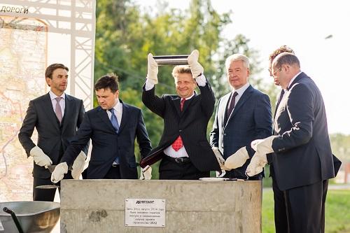 Закладка капсулы при начале строительства ЦКАД в Москве