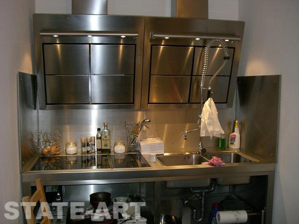 Кухонный блок после заполнения оборудованием