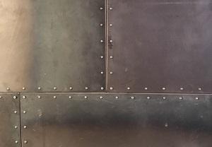 Обшивка стены металлом в стиле Лофт