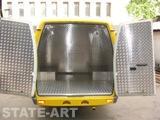 Внутренняя обшивка фургона рифленым алюминиевым листом