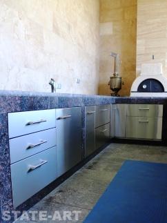 Кухонные дверки из нержавеющей стали
