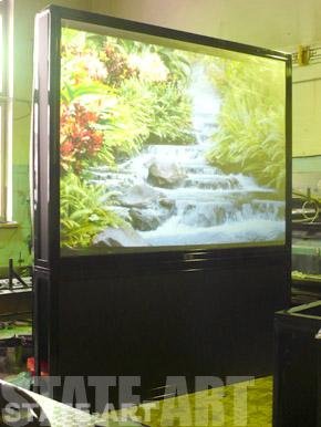 Корпусной экран Visioplan на сборке в цехе производителя