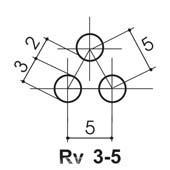 геометрия просечки Rv 3-5 металла