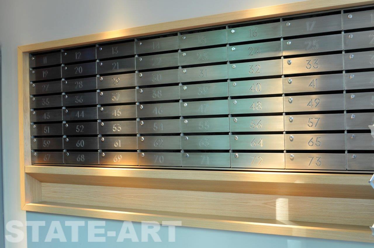Заказать изготовление секционных почтовых ящиков из нержавейки от компании State-Art в Москве
