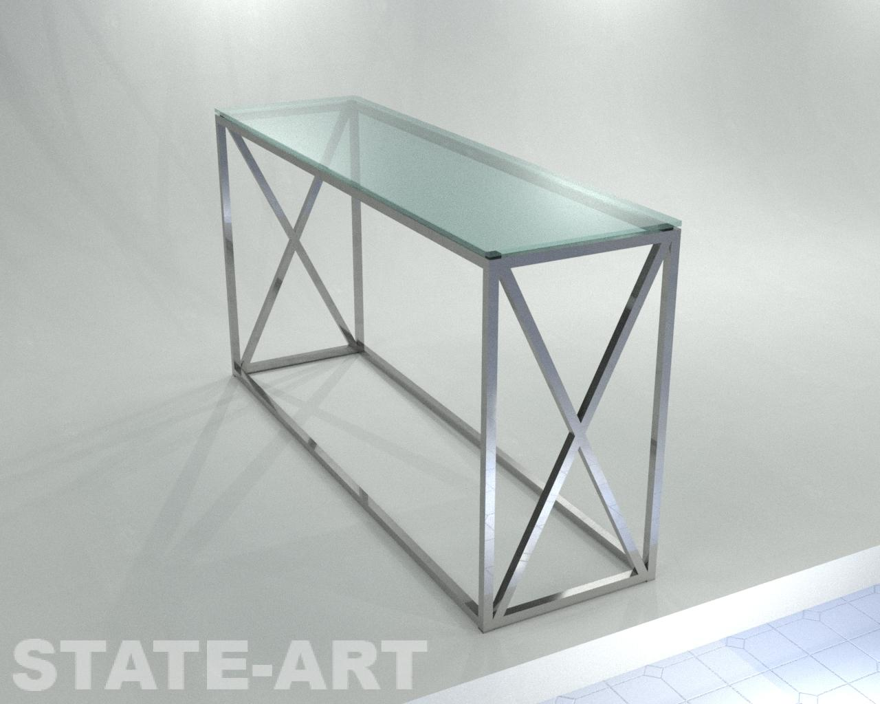 Консоль Lima Glass нержавейка