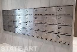 Плоский вариант секций почтовых блоков