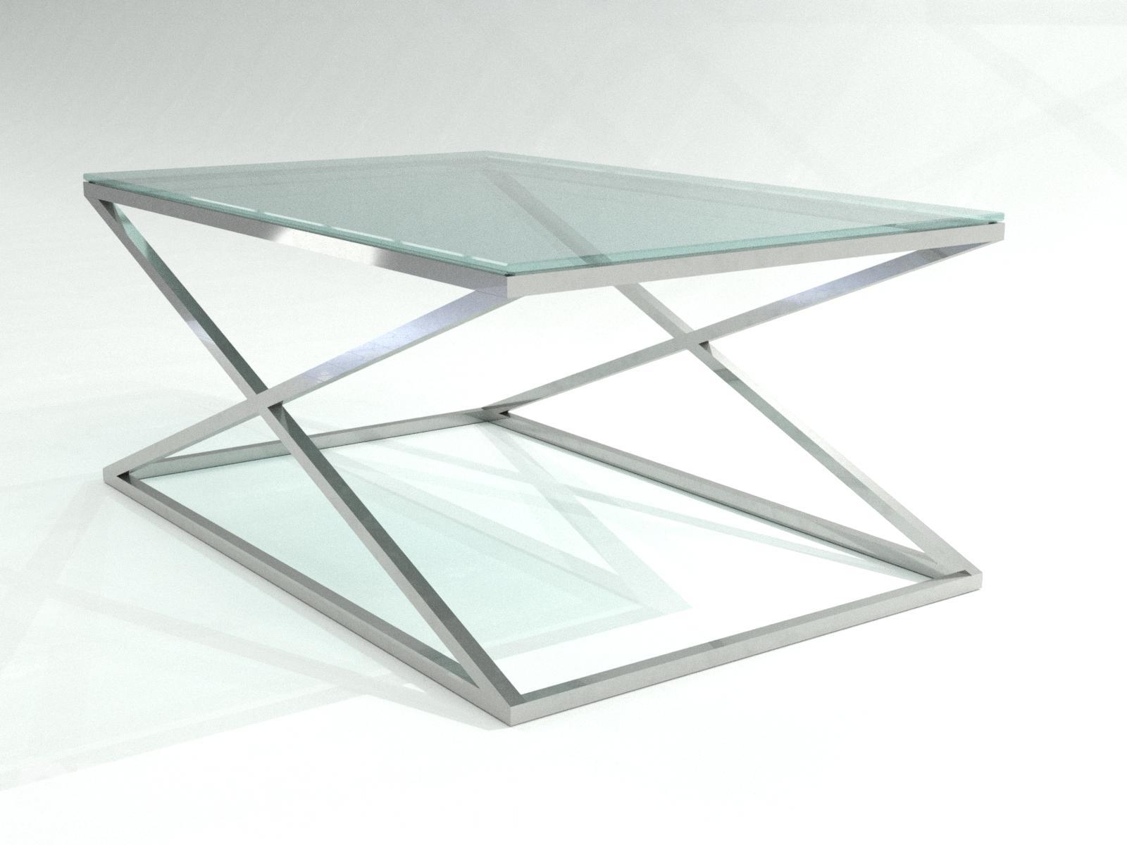 Консоль Castries Glass из полированной нержавейки