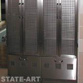 шкаф с дверками - перфо- нержавейка