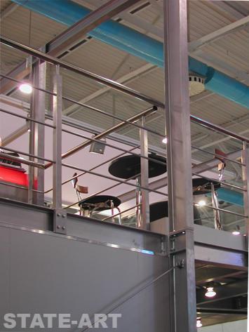 ограждения на двухэтажный выставочный стенд