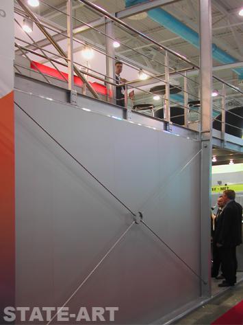 элементы жесткости двухэтажного стенда