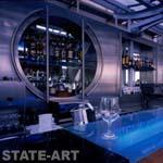 витрина из нержавеющей стали в баре Япона-Мама