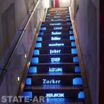 оформление входной лестницы металлическими элементами