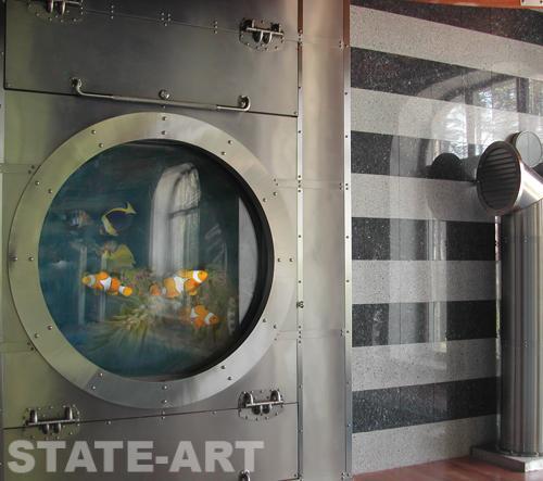 Декоративная металлоконструкция из нержавеющей стали