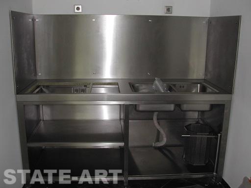 Кухонный блок до заполнения оборудованием