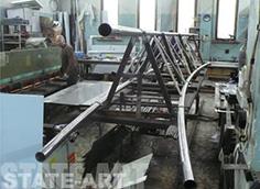 ферма на стапеле в цехе производителя