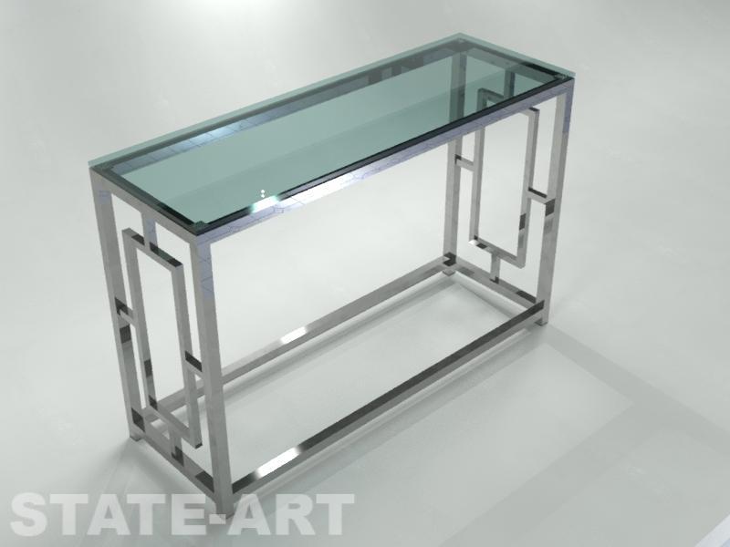 Консоль Caracas Glass из нержавеющей стали