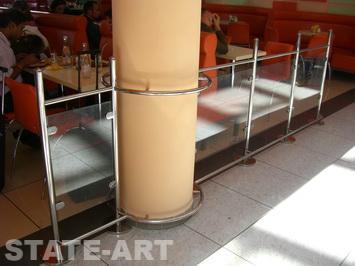 Изготовление поручней из нержавеющей стали для лестниц по выгодным ценам в аэропорту Шереметьево.