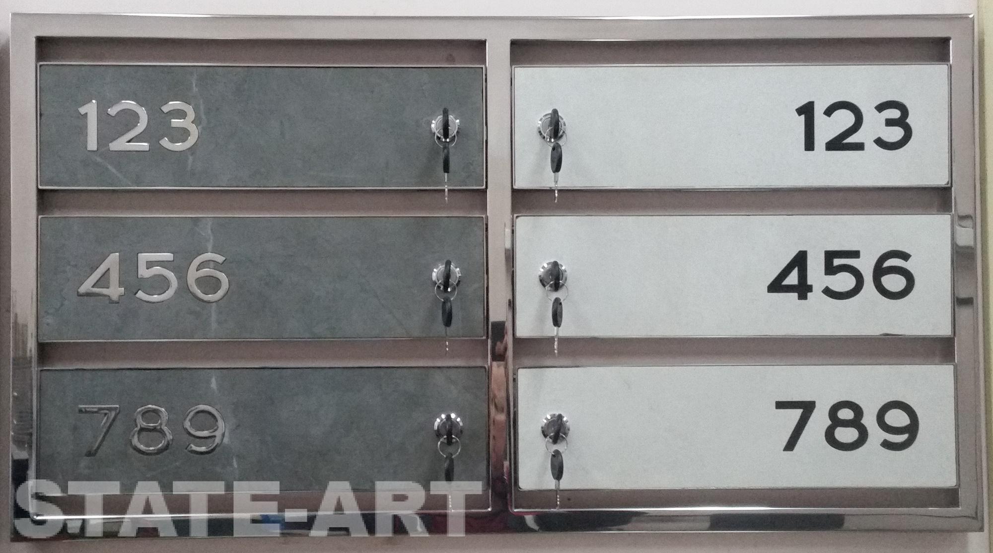 Почтовые ящики с дверками из керамогранита