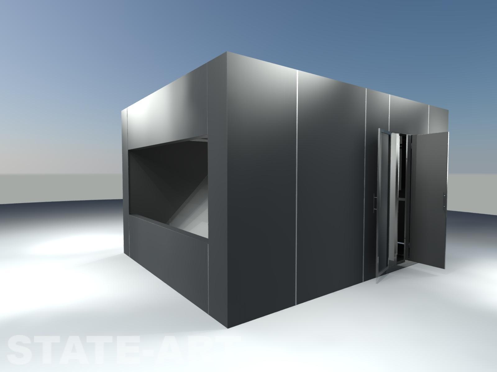 Визуализация голокуба с открытыми дверями