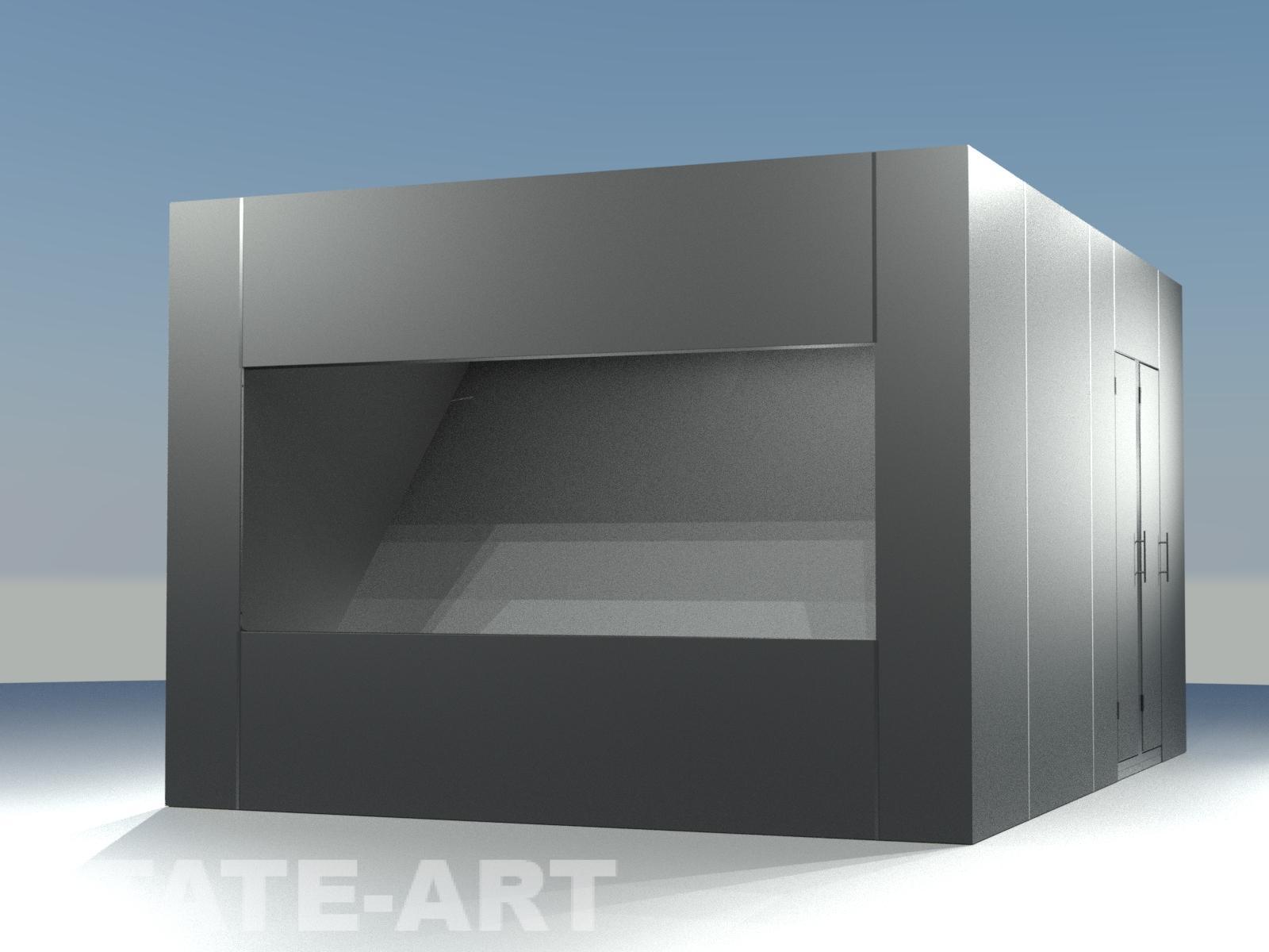 Визуализация голографический куб павильон Musion