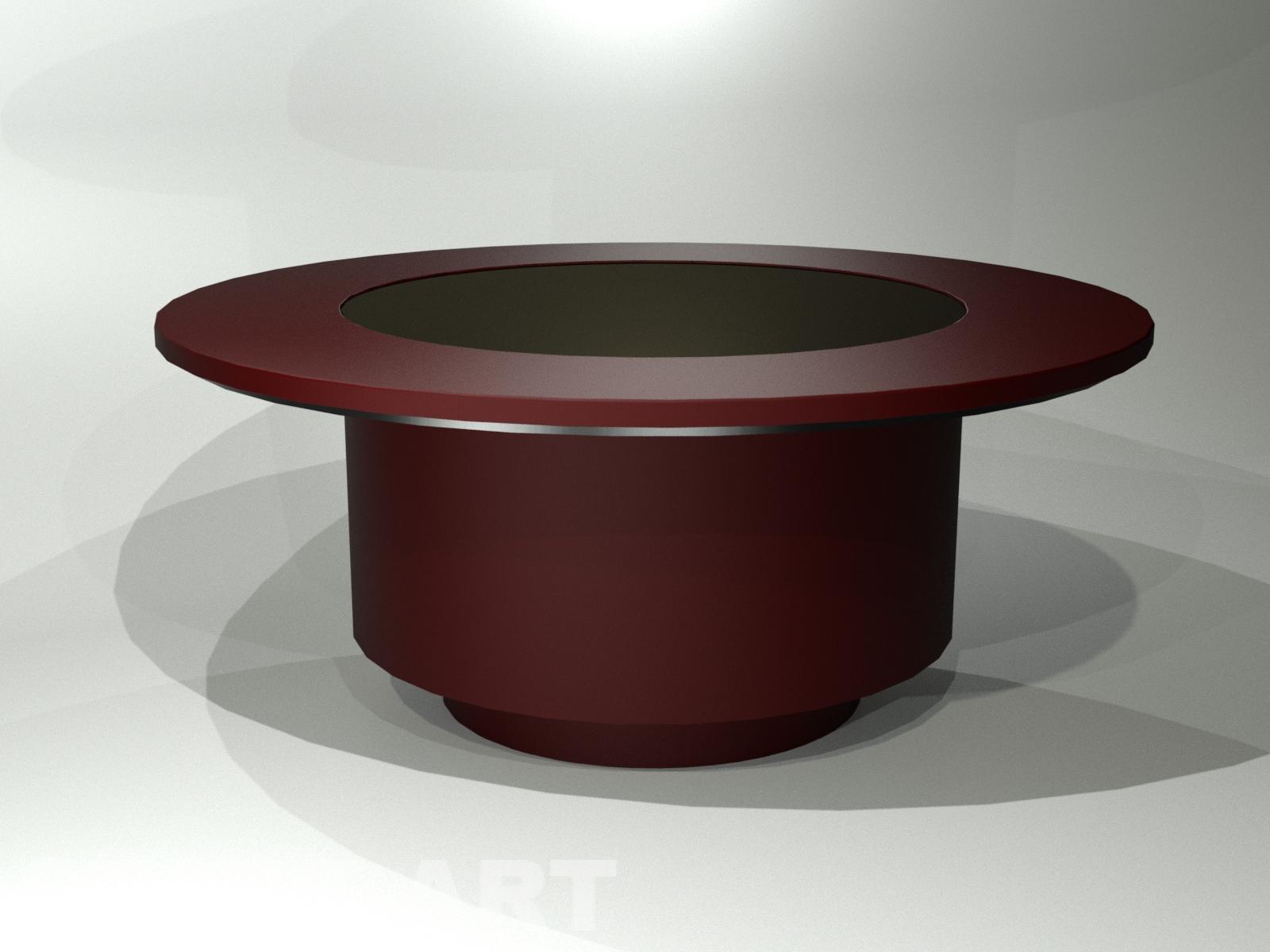 Интерактивный стол корпус бордового цвета