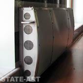 фотография нержавеющий декоративный экран на радиатор отопления