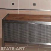 фото вентилируемая банкетка из нержавеющей стали